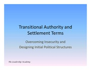 Transitional Authority Settlement Terms Lecture