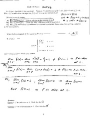 MTH140 – F2008 Midterm1 (Solution)