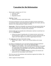 CausationfortheReformation-Notes