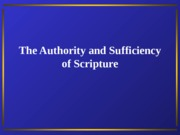 PP 018 Authority and Sufficiency