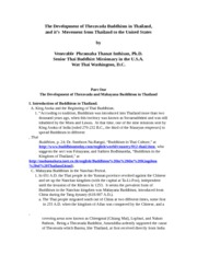 The_Development_of_Theravada_Buddhism_in_Thailand(papers)