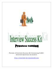 Interview Success Kit - Free Edition