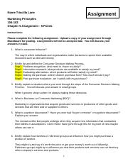 Marketing Principles Chapter 5 Assignment.docx