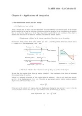 Chapter 6 - Applications of Integration