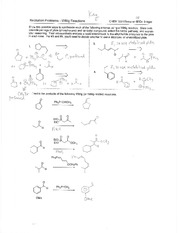 Writing Reactions Problem Set Solution