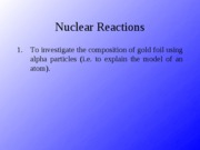 Nuclear Reactions Answers