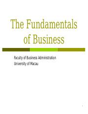 Lecture 02 - Fundamentals of Business.ppt