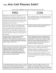 pro con chart quotes - Ashley Tarricone