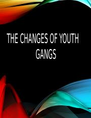 The changes of youth