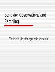 Behavior Observations and Recording.ppt