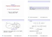 Lecture 7 - Properties of Incompatible Systems of Equations