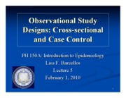 #6 PH150A Feb1 Cross-Sectional & Case Control