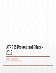 ATP 105 Professional Ethics - 2016 Lecture 21 -THE ADVOCATES ' FIRM.pptx