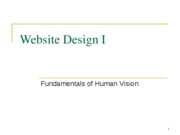 Website Design I