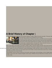 A Brief History of Chapter