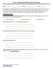 Career and Educational Planning - Final Worksheet.docx
