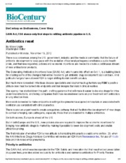 GAIN Act, FDA stance only first steps to refilling antibiotic pipeline in U.S. - BioCentury