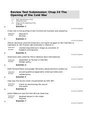 Chap 24 The Opening of the Cold War