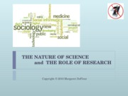mc 3018 role of reseach