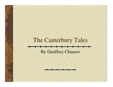 Canterbury Tales Overview and Pilgrim List Study Guide