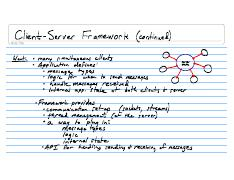 Lecture Notes CSE132 2008-04-08 Client-server Framework (continued)