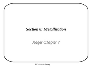 Section 8 - Metallization