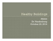14 - Oct 20 - Healthy Buildings  Communities