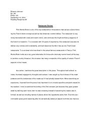 restaurant review response final.docx