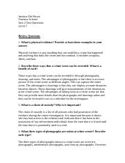 Forensic Science Unit 2 Text Questions .docx