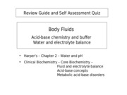 Review Guide - Lecture 3 - Body Fluid - 2010