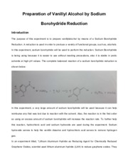 Preparation of Vanillyl Alcohol by Sodium Borohydride Reduction