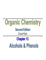 Part 1_Chapter 13 alcohols and Phenols -AJ