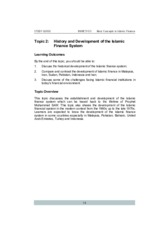 20140906034346_Topic 2 History and Development of the Islamic Finance System