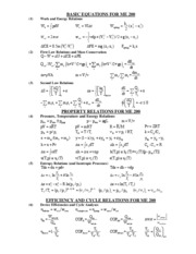 ME200EquationSheet2011Spring