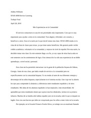 Spanish 4090 final paper