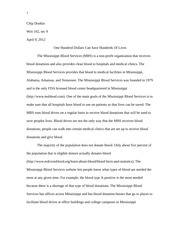 Writ 102 - Rough Draft - Blood Donation Essay