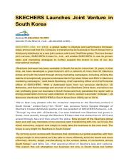 SKECHERS Launches Joint Venture in South Korea.pdf