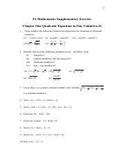 F4_Math_Ch1&2_ Quadratic Equations in One unknown