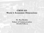 Week 6 - The Information Economy