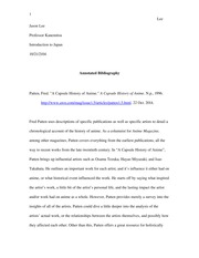 Annotated Bibliography for Final Essay