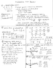 Pre-Calc- Spring TCA- Review Solutions