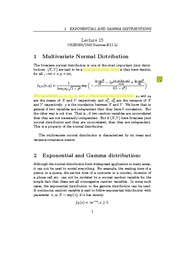 Lecture 15 - Exponential & Gamma Distribution