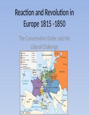 chapter 21 Reaction and Revolution in Europe 1815 -1850