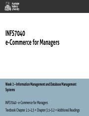 INFS7040 - Week 2 - Information Management and Database Management Systems - 1pp