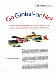 Go Global or No (from Wally)
