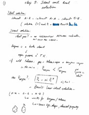 Solution ideal and real (Chap 9)