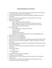 Financial Markets Test 4 Review.docx