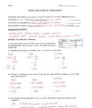 Media Statistics and Probability