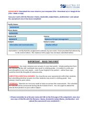 INFORMATION AND COMMUNICATION ASSESSMENT 1 pdf - Diploma of