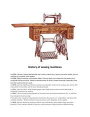 HISTORY OF SEWING MACHINE.docx